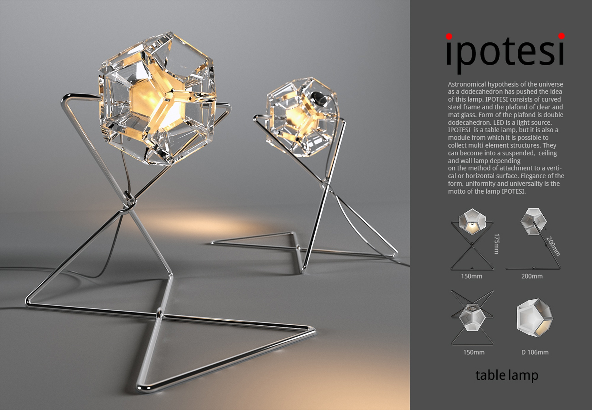 IPOTESI – table lampe 2015